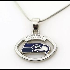 """Seattle Seahawks pendant necklace with 18"""" chain"""